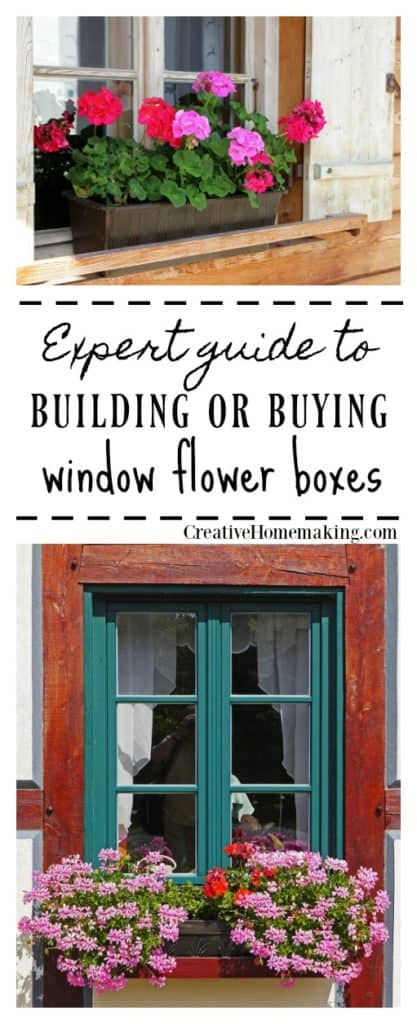 Complete guide to buying or building window flower boxes.