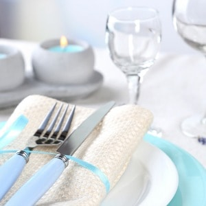 Clever tip for removing candle wax from a linen tablecloth.