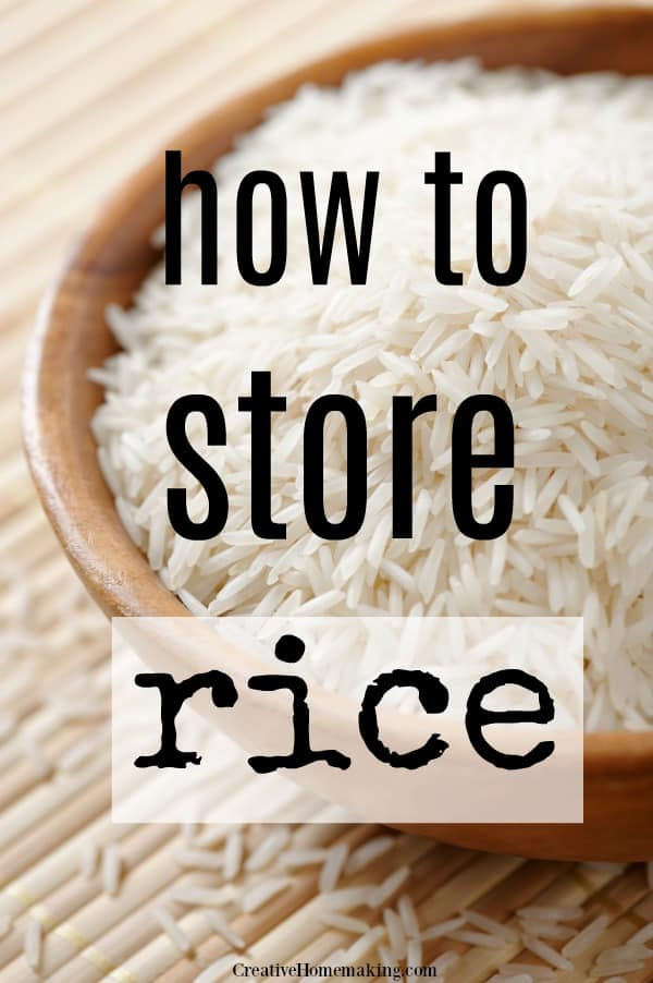 Helpful tips for storing rice in your pantry long term for food storage purposes.
