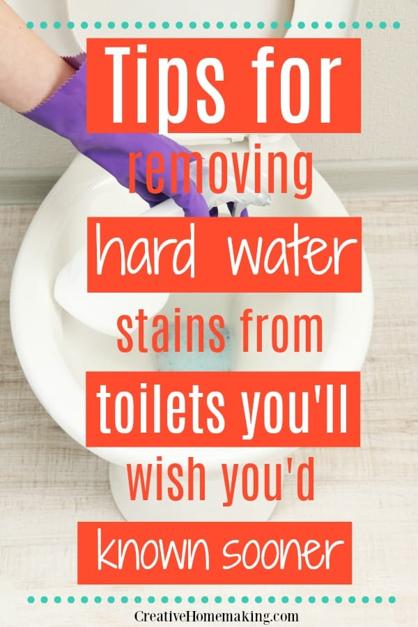 My favorite cleaning hacks from removing hard water stains from your toilet. Find out which toilet brush will make toilet cleaning a breeze!