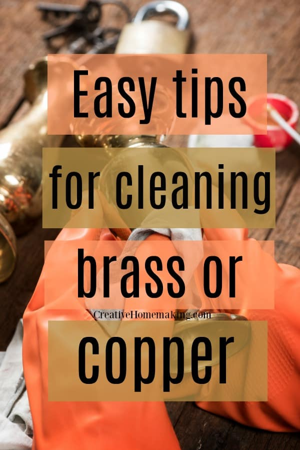 Some of my favorite cleaning hacks for cleaning copper or brass with lemon, vinegar, and Barkeepers Friend.