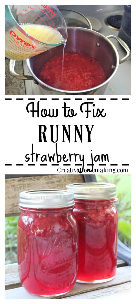 How to fix your runny strawberry jam if it doesn't set the first time. It's not too late to fix it! Here's complete step by step instructions for fixing it.