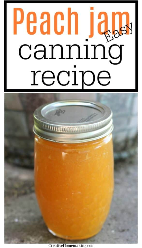 Easy recipe for canning peach jam. One of my favorite homemade jam recipes made from fresh peaches.