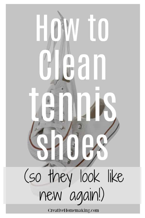 Easy DIY tips for cleaning tennis shoes so that your sneakers look like new again!