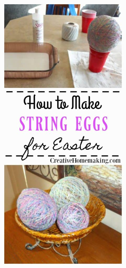 How to make string Easter eggs with balloons and liquid starch. A fun DIY Easter craft for the whole family!