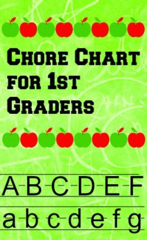 Sample chore chart for first graders.
