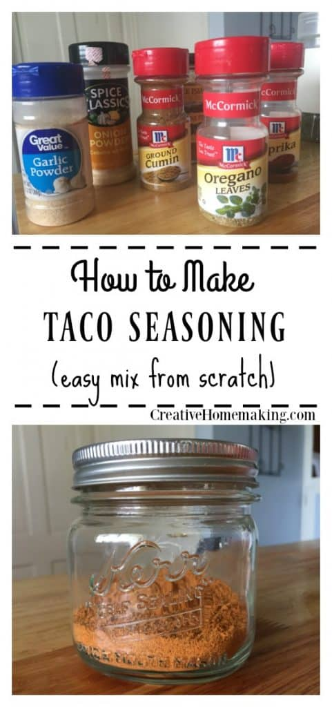 Easy recipe for homemade taco seasoning mix. One of my favorite recipes for homemade mixes!