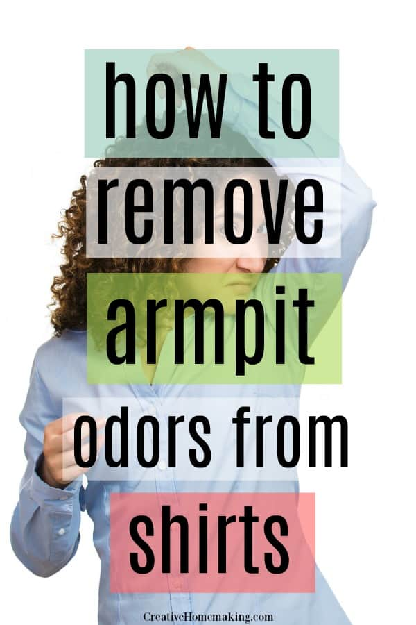 The best tips for removing armpit odors from shirts. How to neutralize sweat odor, best laundry detergent for sweat odor, and more.