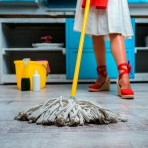5 quick mopping tips to make cleaning your kitchen easier. Some of my favorite kitchen cleaning hacks!