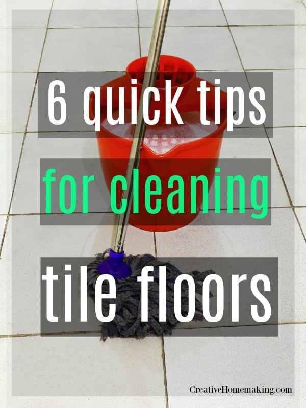 6 quick, expert tips for mopping tile floors in your kitchen and bathroom. Some of my favorite tile floor cleaning hacks!