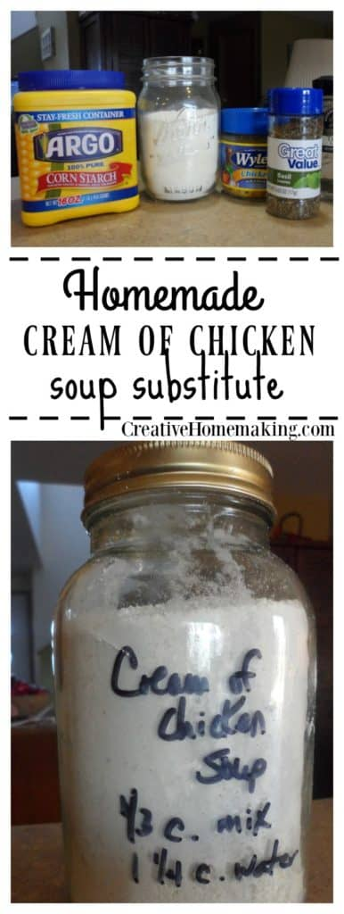 Homemade cream of chicken soup mix. Homemade cream of chicken soup not only tastes better than store bought, it is less expensive!