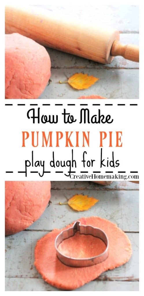 This pumpkin pie play dough is easy to make and a fun fall craft activity for preschool.