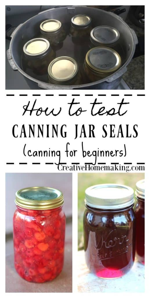 How to Test Canning Jar Seals