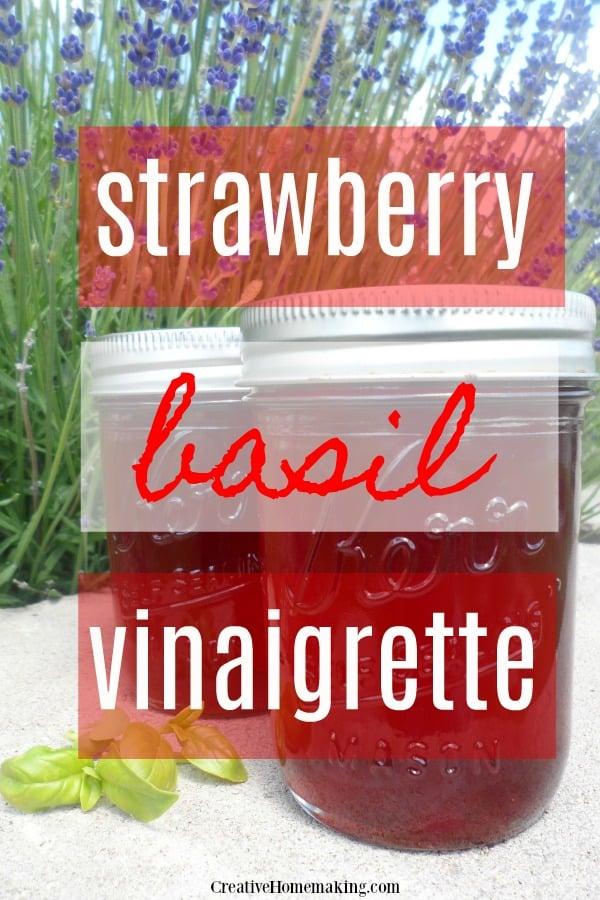 strawberry basil vinaigrette