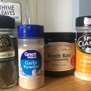 Recipe for easy inexpensive beef gravy mix from scratch.