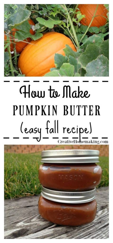 Easy pumpkin butter recipe. One of my favorite fall recipes!