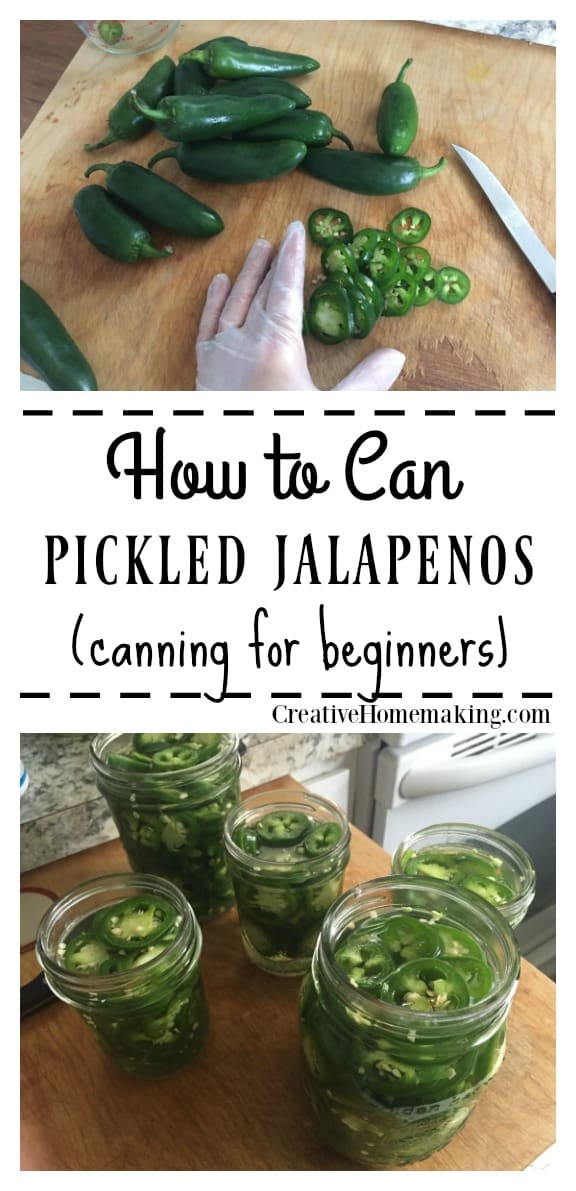 Easy recipe for canning pickled jalapenos.