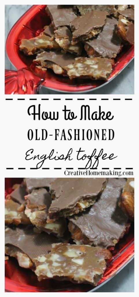 The best English toffee recipe to make as a special treat to give to family and friends during the holidays. You will love this easy English toffee recipe!