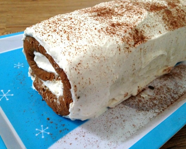 Easy gingerbread roll recipe. One of my favorite easy holiday dessert ideas!