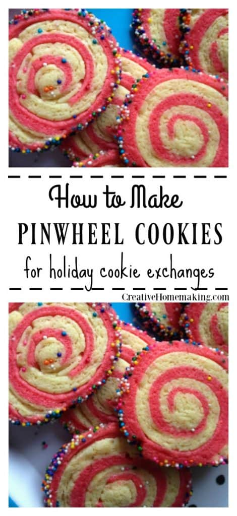 Easy pinwheel cookies recipe for holiday cookie exchanges.