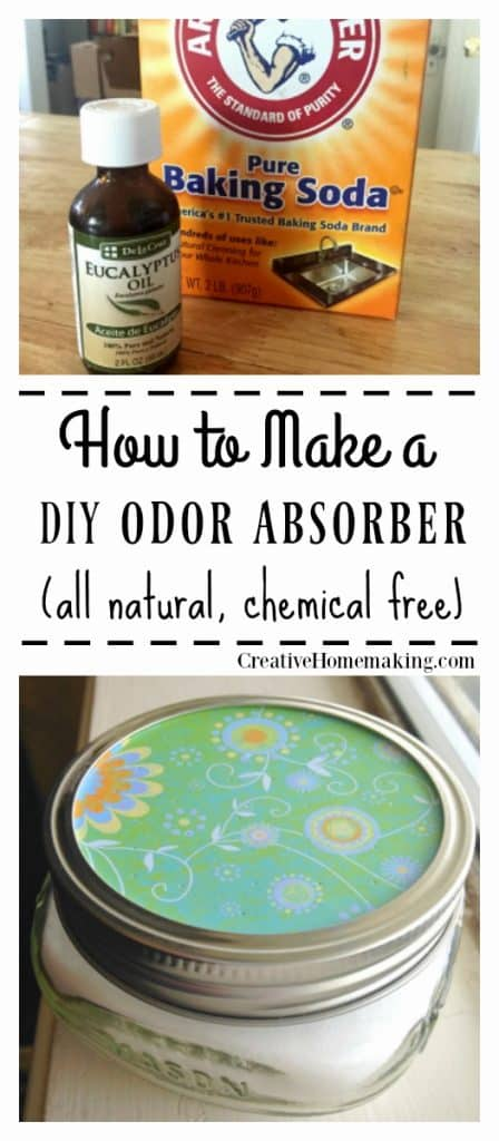 Easy DIY odor absorber you can make from baking soda and essential oils to make your house smell good with no chemicals!