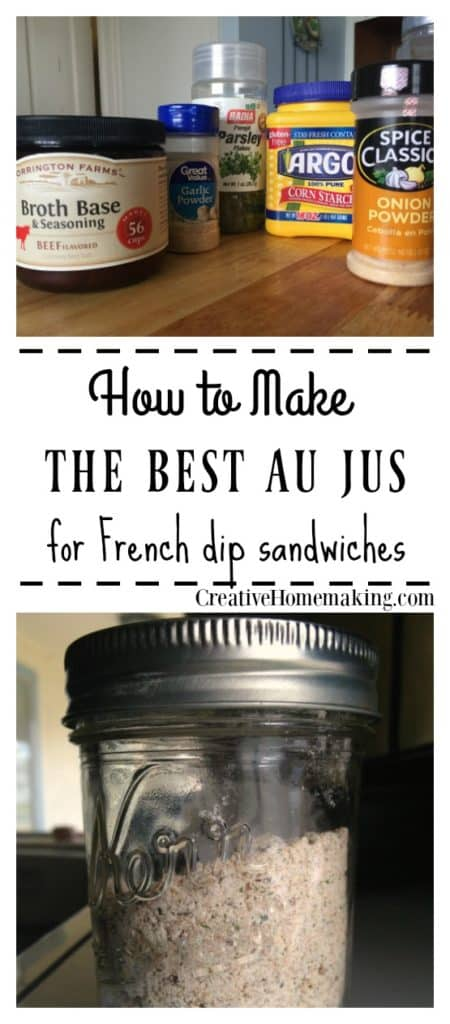 The best french dip au jus mix recipe. How to make au jus mix without MSG.