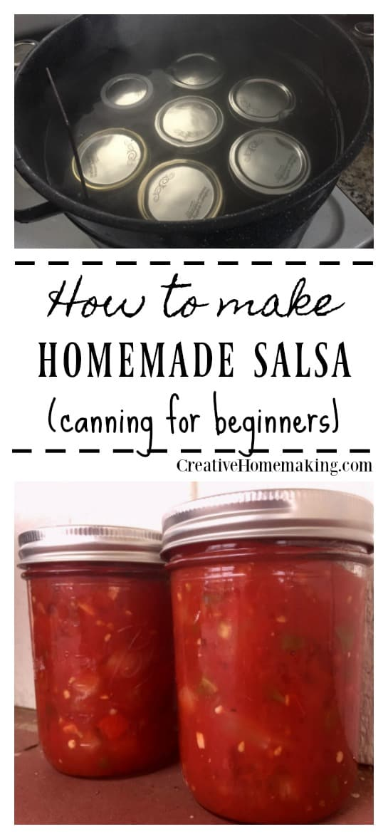 Easy recipe for canning salsa.