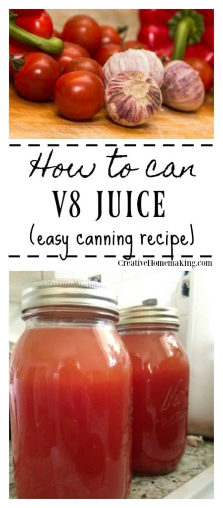 Canning V8 juice. Easy canning recipe for beginning canners.