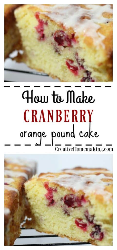 The best recipe for cranberry orange pound cake. One of my favorite holiday baking recipes!