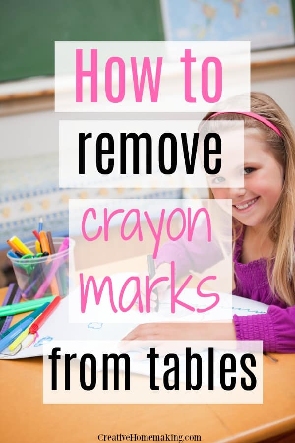 Clever tips for removing stubborn crayon marks and crayon stains from wood and plastic tables