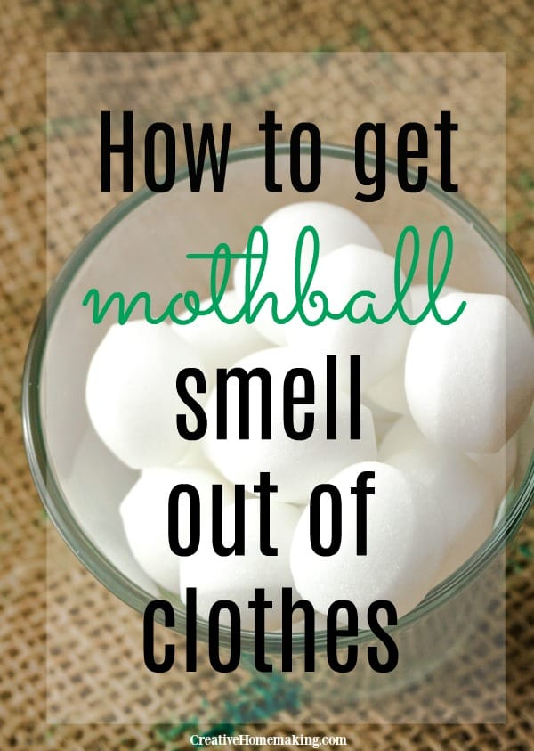 Easy tips for getting stubborn mothball smell out of clothes.