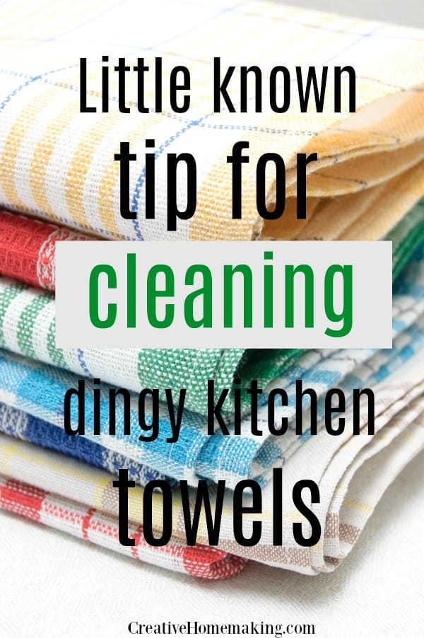 Clever cleaning hacks for washing new kitchen towels, how to get stains out of towels, and how to clean greasy kitchen towels.