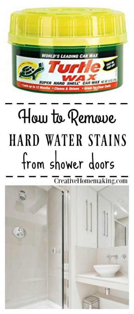 These expert cleaning tips will help you remove hard water stains and hard water deposits from glass shower doors. One of my favorite bathroom cleaning hacks!