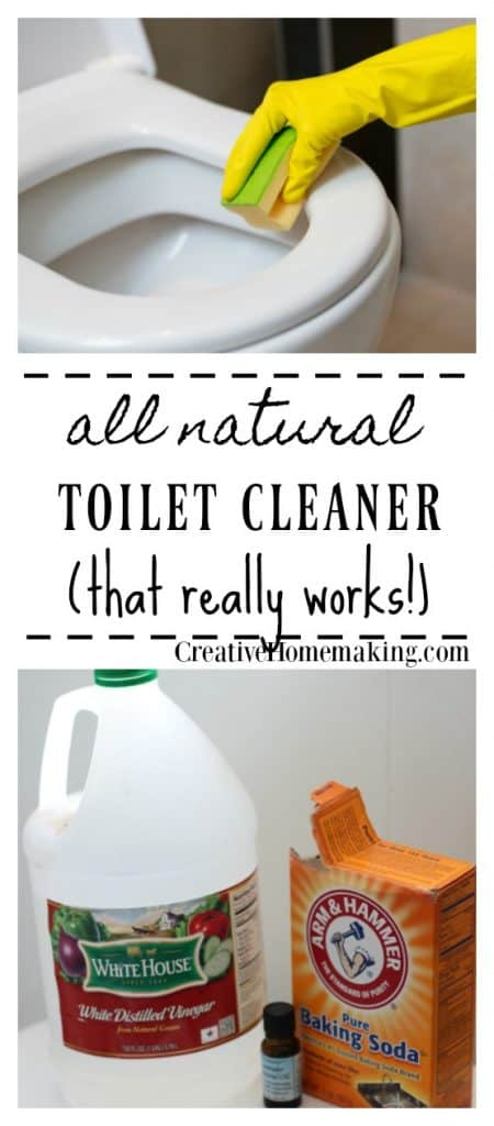 This inexpensive all-natural homemade toilet cleaner takes just minutes to make! One of my favorite bathroom cleaning hacks.
