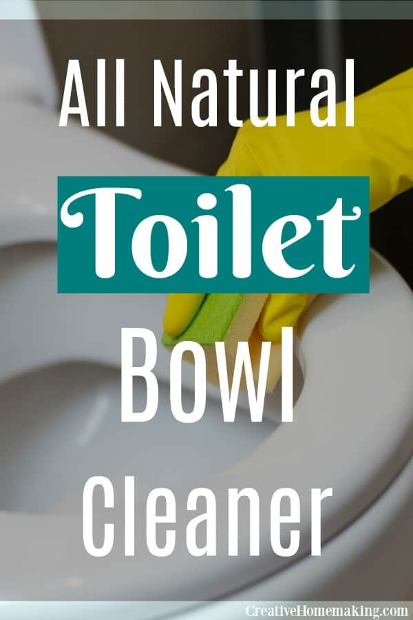 Easy all natural toilet bowl cleaner. One of the best cleaning products you'll find for the bathroom and one of my favorite bathroom cleaning hacks!