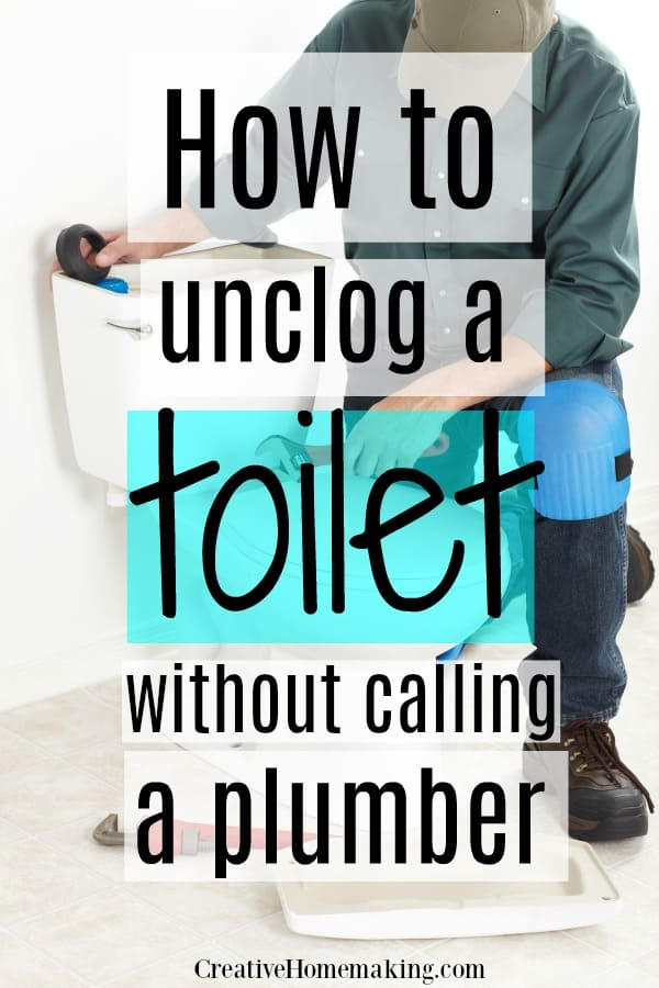 Easy DIY tips for how to unclog a toilet without a plumber.