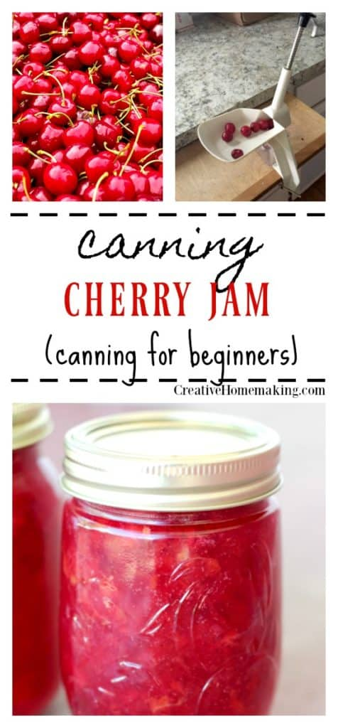 Easy recipe for canning cherry jam.