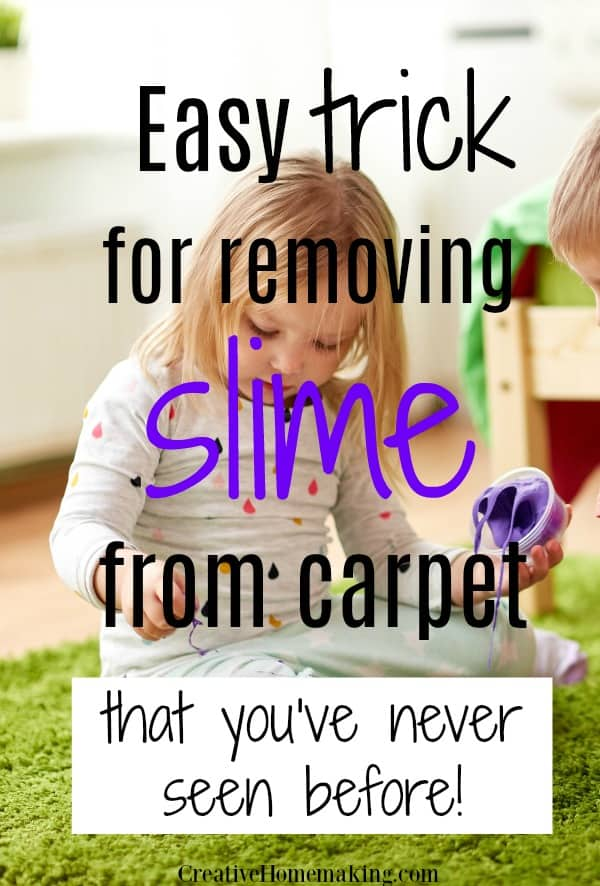 Little known cleaning hacks for removing silly putty or slime from carpet. Also find how to remove thinking putty, magic putty, and more.