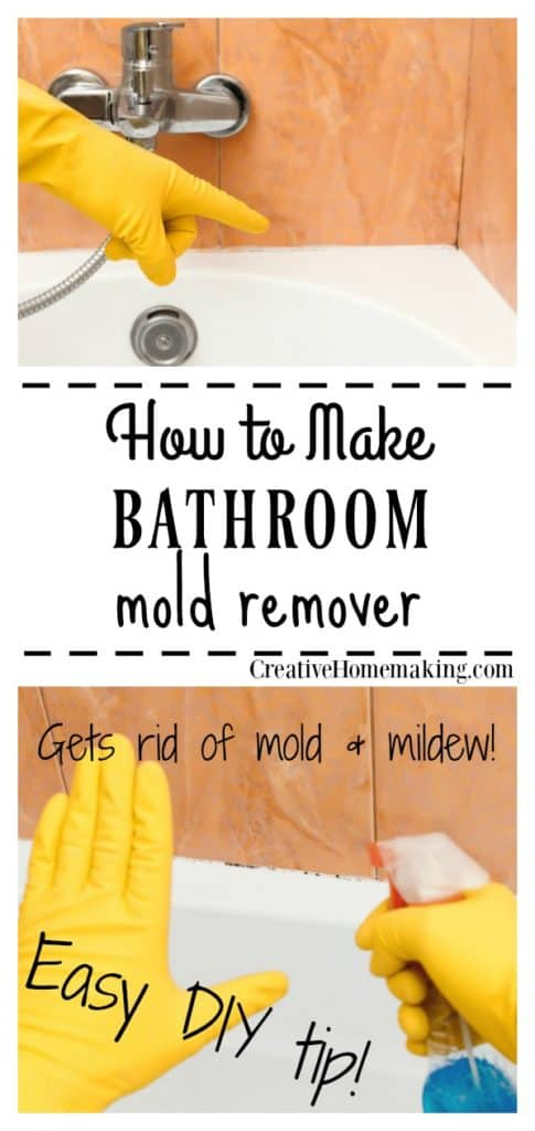 Get rid of mold and mildew in the bathroom for good with this easy DIY household cleaner. This is the best bathroom mold remover I've ever used!