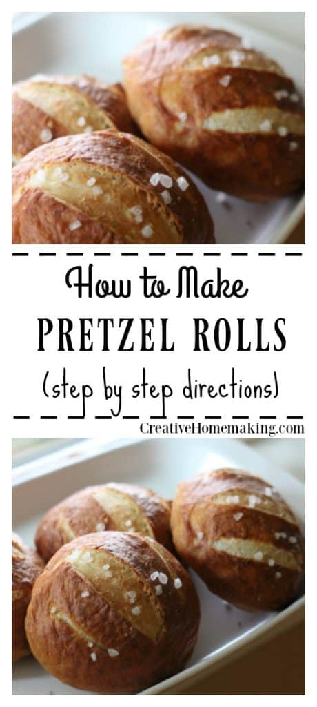 Easy recipe for homemade pretzel rolls. One of my favorite fall baking recipes!