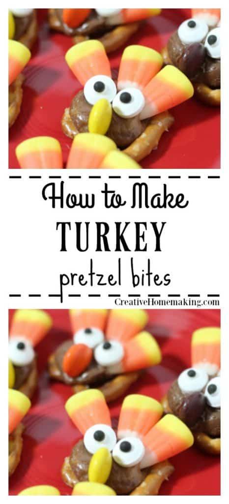Turkey pretzel bites. One of my favorite Thanksgiving treats for kids!