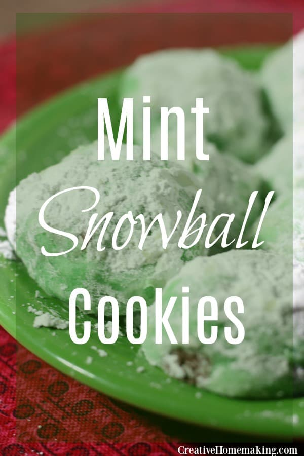 These mint snowball cookies are one of the best Christmas cookie recipes. Easy Christmas cookie for holiday cookie exchanges.