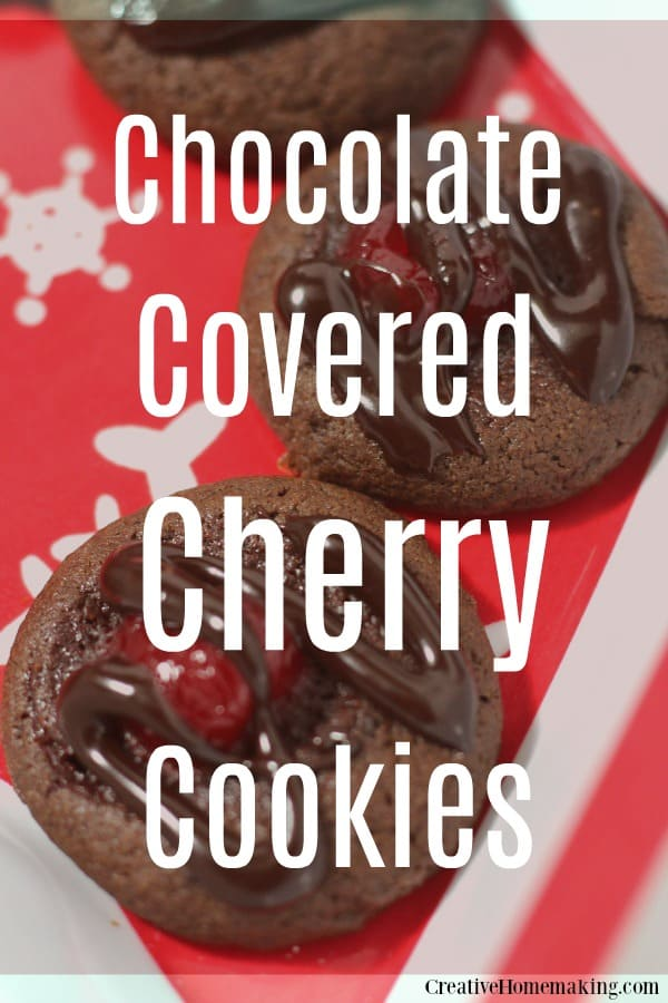 Easy recipe for chocolate covered cherry cookies. One of my favorite holiday desserts and an easy Christmas treat!