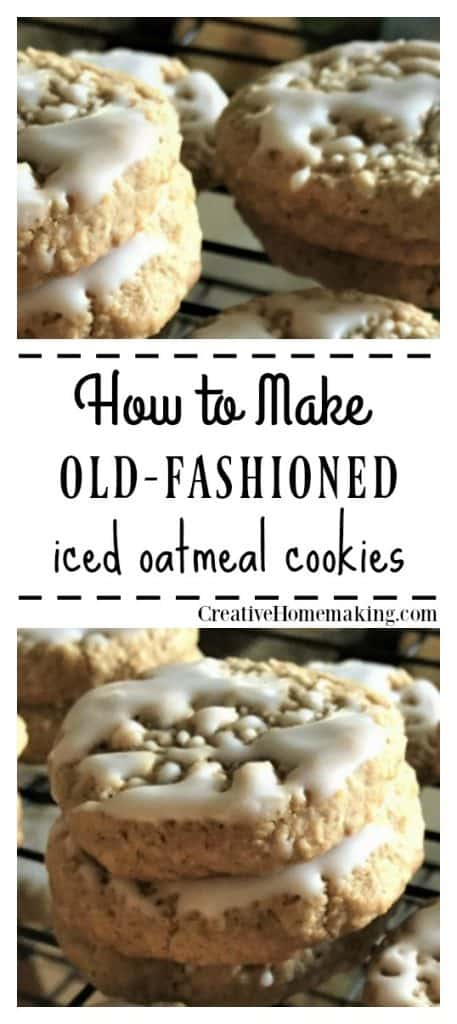Recipe for old fashioned iced oatmeal cookies. One of my favorite easy cookie recipes!