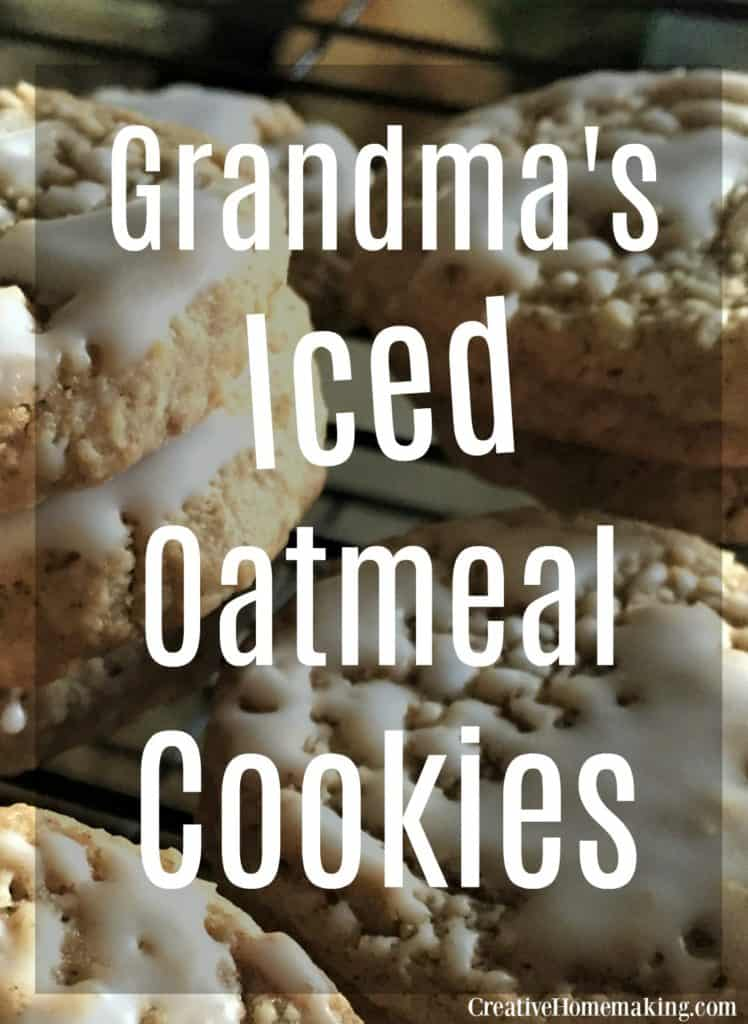 Looking for Christmas cookie ideas? These iced oatmeal cookies are easy Christmas cookies to make for the holiday season or any time.