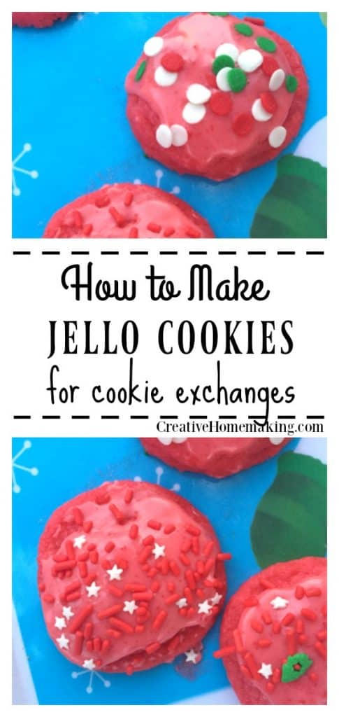 Easy recipe for Christmas Jello cookies. One of my favorite cookies for Christmas cookie exchanges!