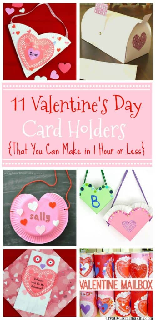 Easy DIY Valentines Day Card Holders