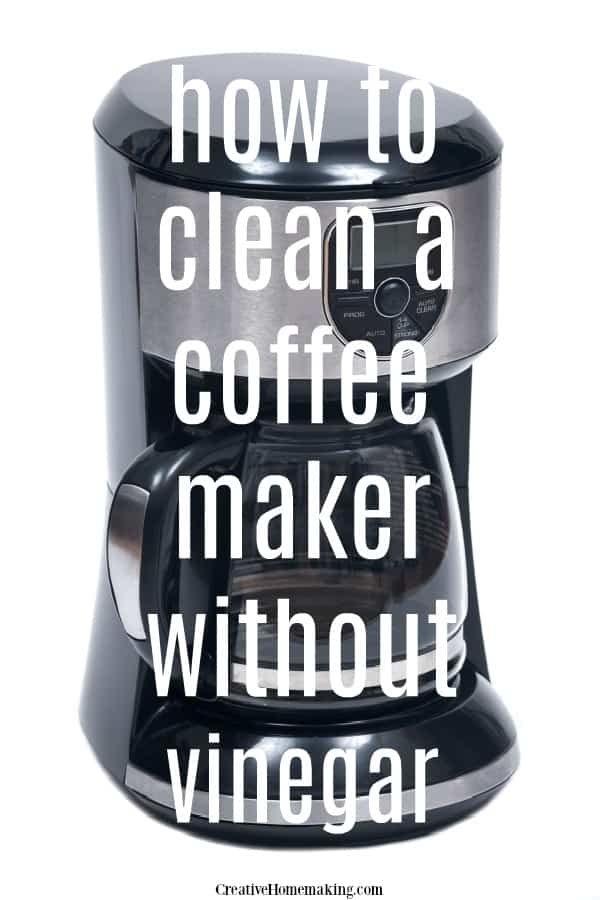 Easy tips for cleaning a coffee maker without vinegar.