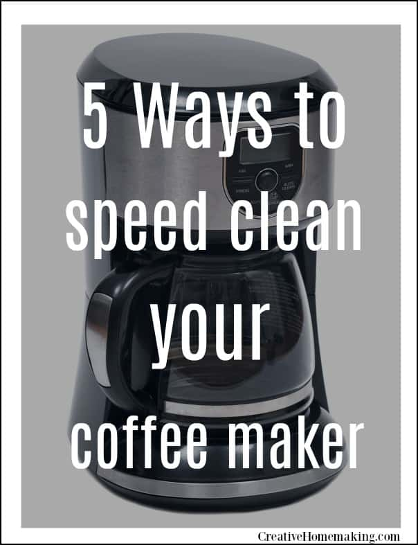How to clean your coffee maker without vinegar, plus 4 other easy tips for speed cleaning your coffee maker.