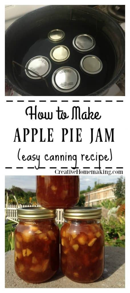 Easy recipe for apple pie jam. One of my favorite fall canning recipes!